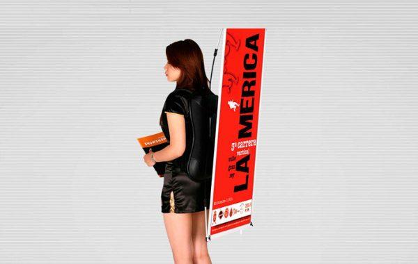 mochila mini x banner displays publicitarios para ventas en lima 2019 - suma publicidad